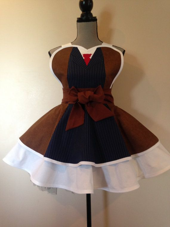 Dr Who - Whovian - Dr Who costume - Dr Who David Tennant - Retro Apron - Cosplay Apron  AriaApparel