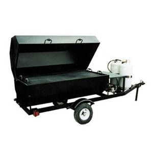 Big John Grills 150 Towable LP Gas BBQ Grill Single Door 15 SqFt Grill Area - RW6SDG