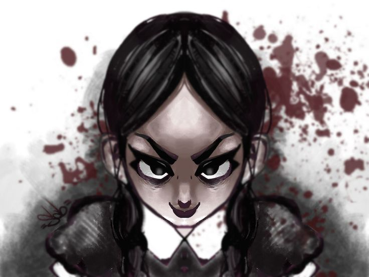 Wednesday Addams - by me Strega02 on Deviantart http://strega02.deviantart.com/art/Wednesday-Addams-496388106