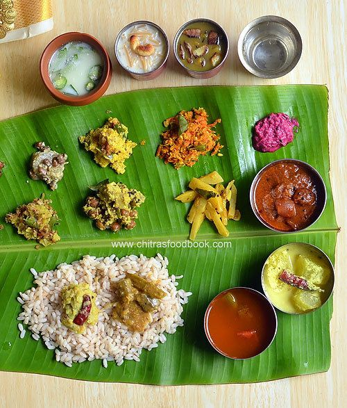 Onam sadya items - Kerala Lunch Menu