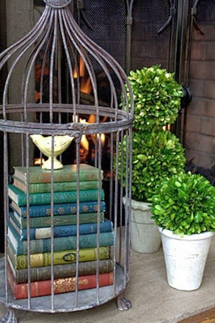 Cage for speacial books, only, it's not good for books to be in that position, but it's nice though.