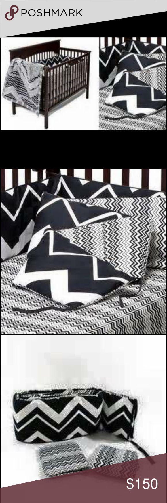 Missoni for target chevron crib bumper bedding So fun. Missoni for target black and white chevron crib bumper and sheet set Missoni Other