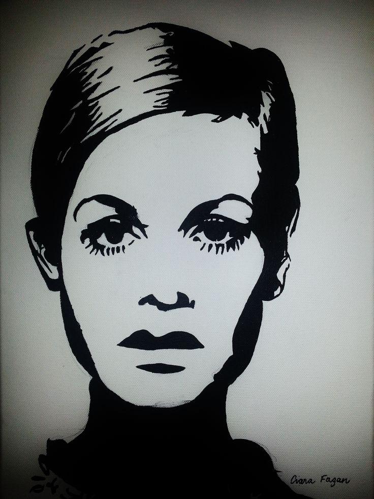 Twiggy. Andy Warhol. Pop art. Painting. Art. www.ciarafaganart.com