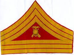 Pre 1904 Marine Gunnery Sergeant Chevrons.
