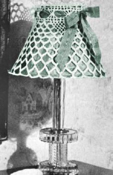Open Mesh Lamp Shade Vintage Crochet Pattern for download