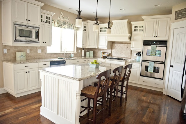 another idea: Dream House, Family Rooms, Kitchen Ideas, Room Design, White Cabinets, Dream Kitchens, White Kitchens