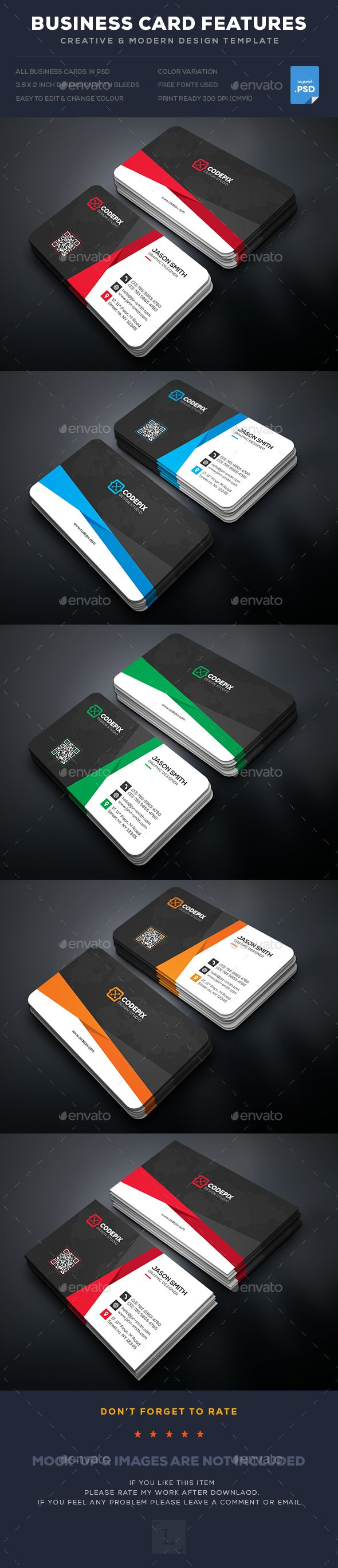 The 414 best Modern Business Cards images on Pinterest | Business ...