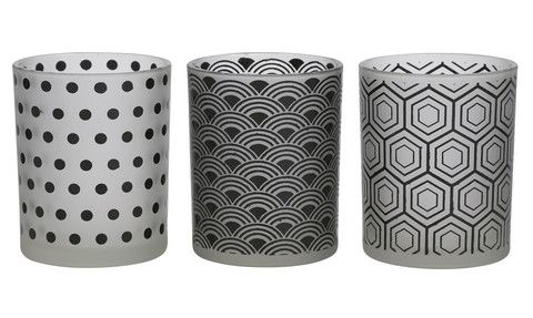 Monochrome candle holders or vase