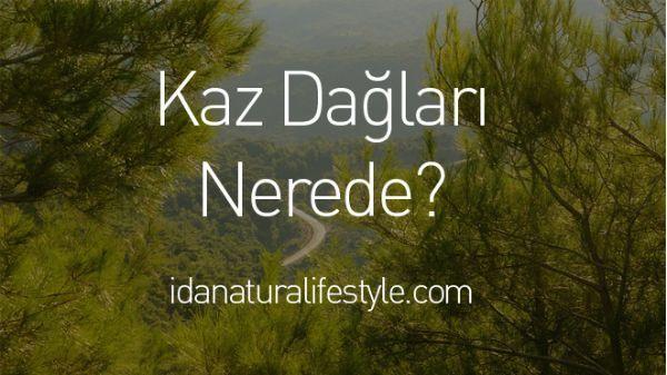 Kazdağları Nerede sorusunu soranlar için Kaz Dağları nerede, Akçay nerede, Altınoluk nerede sorularının cevaplarıyla yanıtladık.   http://www.idanaturalifestyle.com/kaz-daglari-nerede