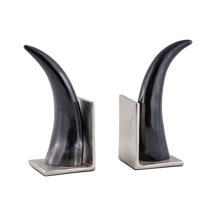Guild Master Abilene Natural Horn Bookends - Set of 2