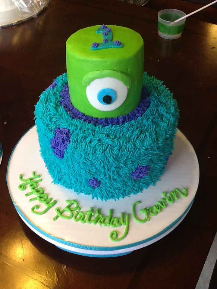 Monsters Inc Cake For 1st Bday Cakes I Have Made