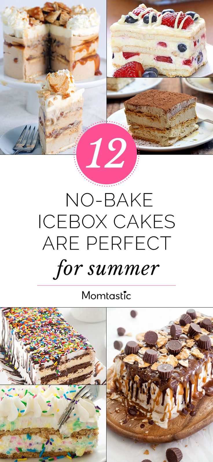 These quick and easy no-bake icebox cakes are perfect for any season!