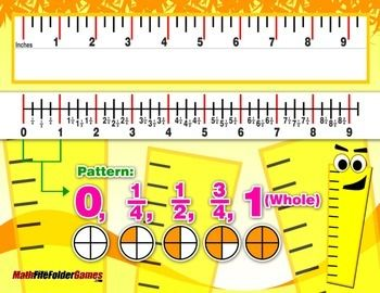how to read a ruler in fractions
