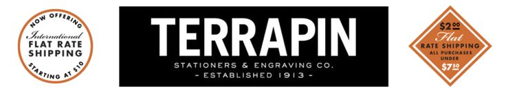 Terrapin Stationers - love these guys work - placing my first order soon - #Terrapin #stationery #design #engrave #type