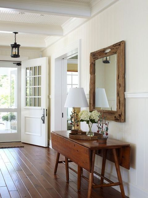 Drop-leaf tables make amazing entry hall tables, sofa tables, and work spaces in an office.
