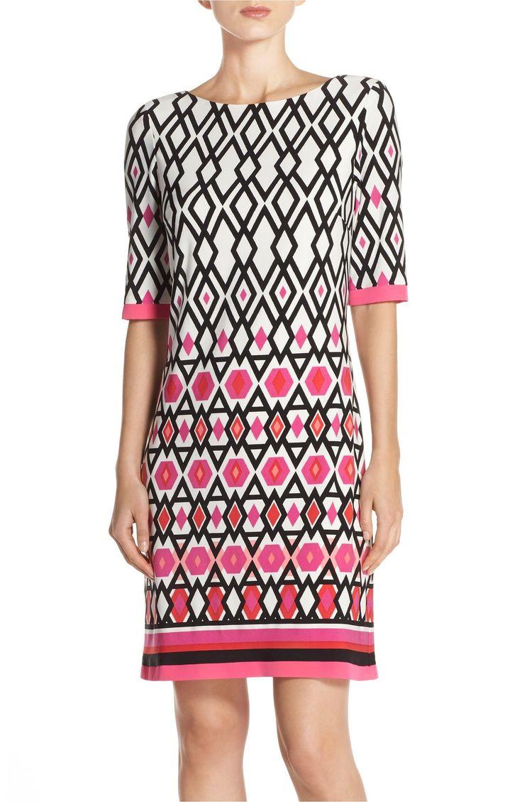 Main Image - Eliza J Print Jersey Sheath Dress (Regular & Petite)