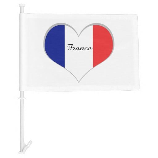 France car flag French tricolore