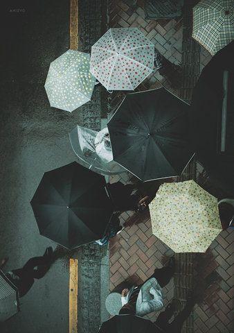 .: Polka Dots, Umbrellas, Rainy Day, The View, Street Style, April Shower, Colors Palettes, Photo, South Korea