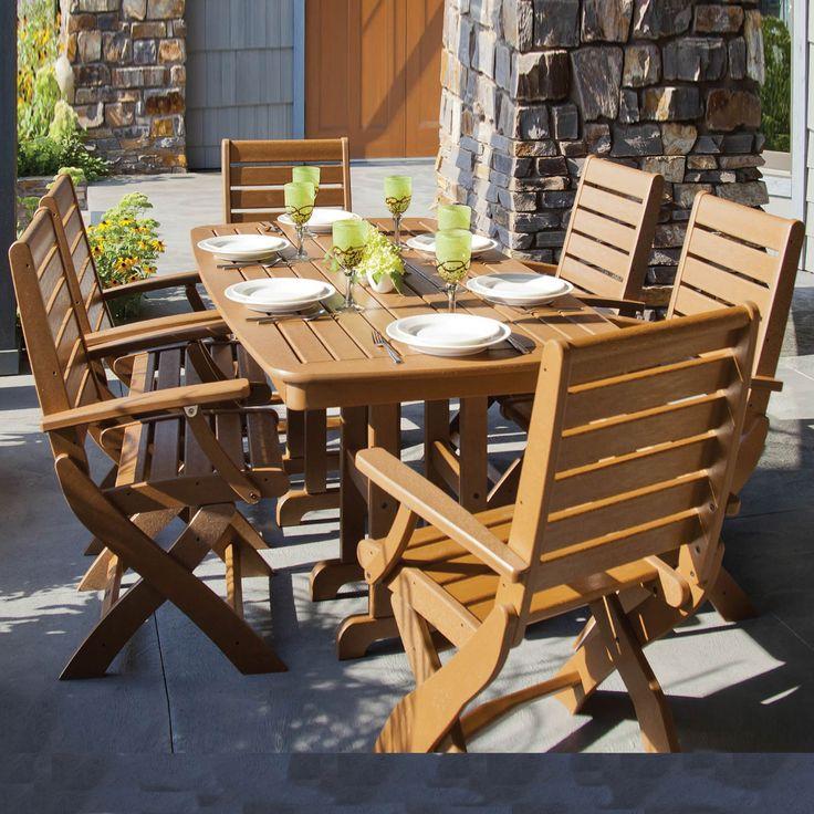 POLYWOOD Signature 7 Pc Outdoor Dining Set