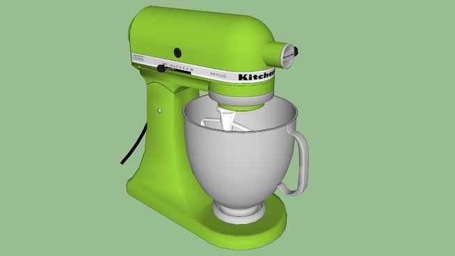 Large preview of 3D Model of KitchenAid Artisan Stand Mixer
