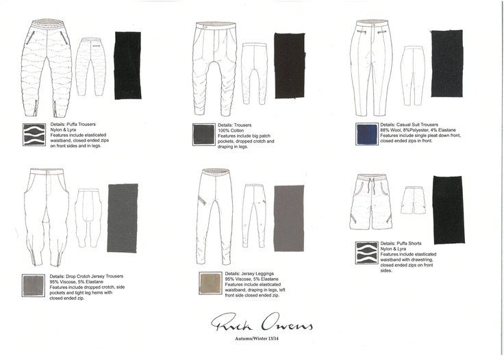 Flat Drawing Board - Trousers/Shorts