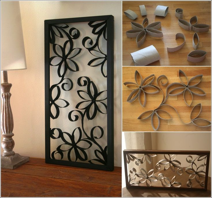 How to DIY Metal-looking Flower Wall Art from Paper Roll | www.FabArtDIY.com LIKE Us on Facebook ==> https://www.facebook.com/FabArtDIY