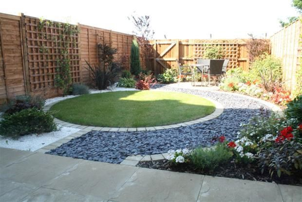 Mixed materials in small garden