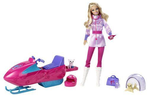 Import Barbie doll occupation Barbie World model Barbie I Can Be Arctic Rescuer Playset parallel import goods -- You can get more details by clicking on the image.