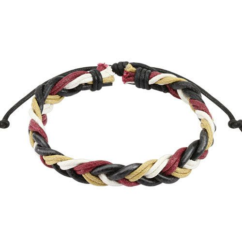 Плетеный браслет SPIKES SL-0179-R