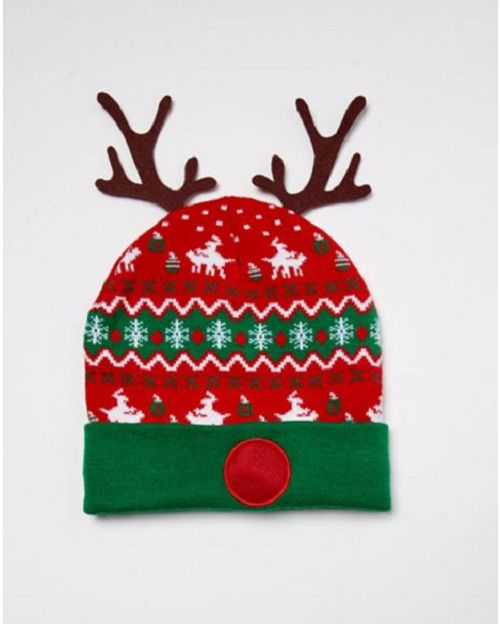 ab2f6d9acebf8 UGLY CHRISTMAS SWEATER POM POM BEANIE REINDEER HUMPING LIGHT-UP HAT ADULT  OS  SPENCERS  PomPomBeanie