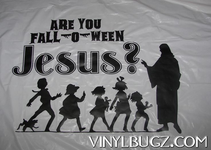 Are you Fall-o-ween Jesus?    Banner made for church Trunk-0r-treat