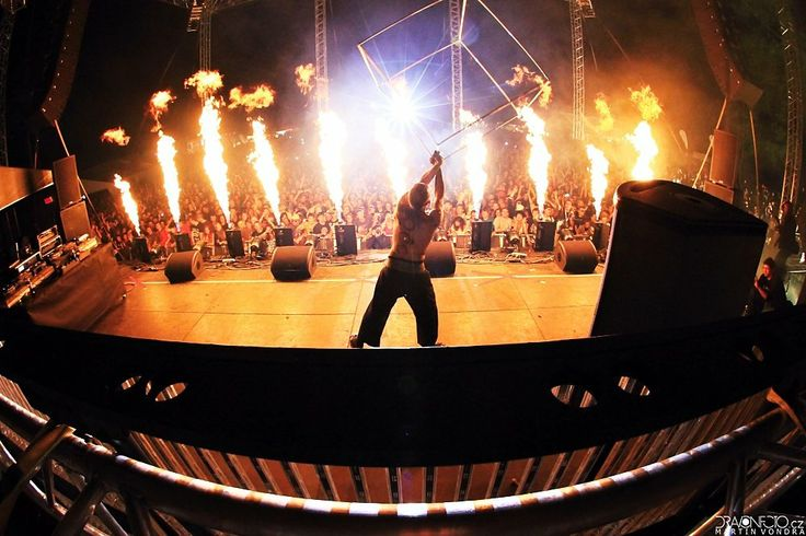 stage on fire Let It Roll Open Air 2012