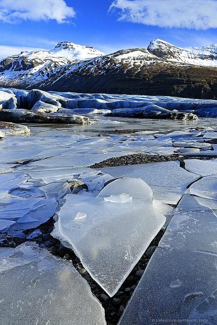 Svínafellsjökull glacier, Iceland, February 2013 by Wildernesscapes Photography, via Flickr