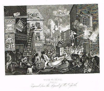 "William Hogarth's - ""THE TIMES"" - Steel Engraving - 1861"