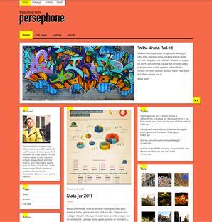 Persephone Fashion / design theme for WordPress