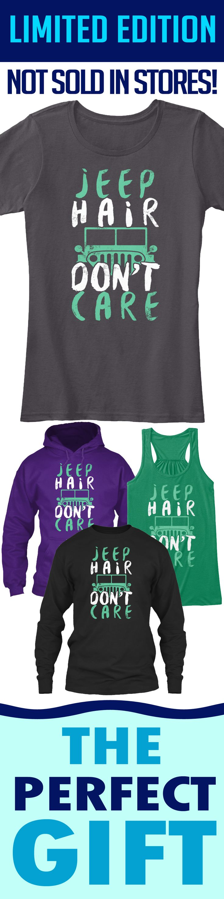 Jeep Hair Don't Care - Limited edition. Order 2 or more for friends/family & save on shipping! Makes a great gift!