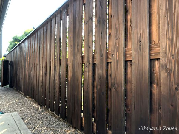 天然木 目隠し塀 大和張り 造園 塀 玄関 和風