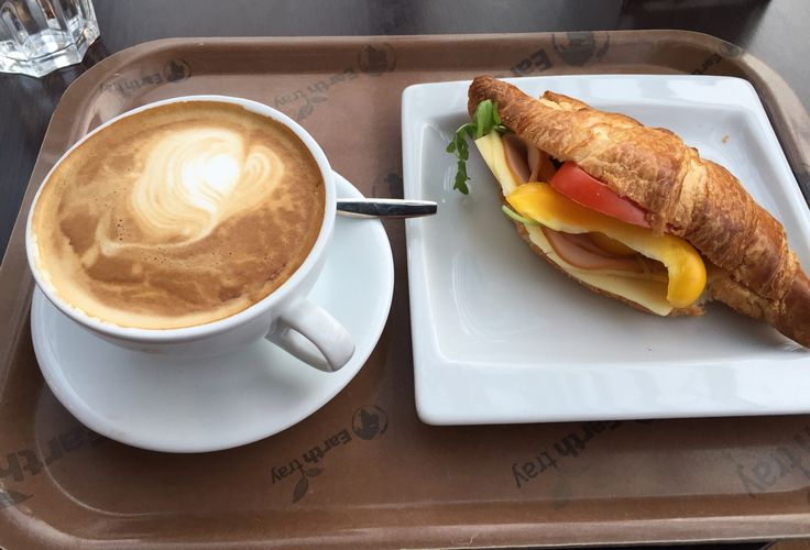 Croissant and cappuccino at Ciao cafe