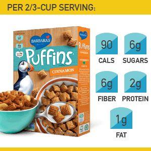 2. Barbara's Cinnamon Puffins #cereal #breakfast http://greatist.com/health/best-healthy-cereal-brands