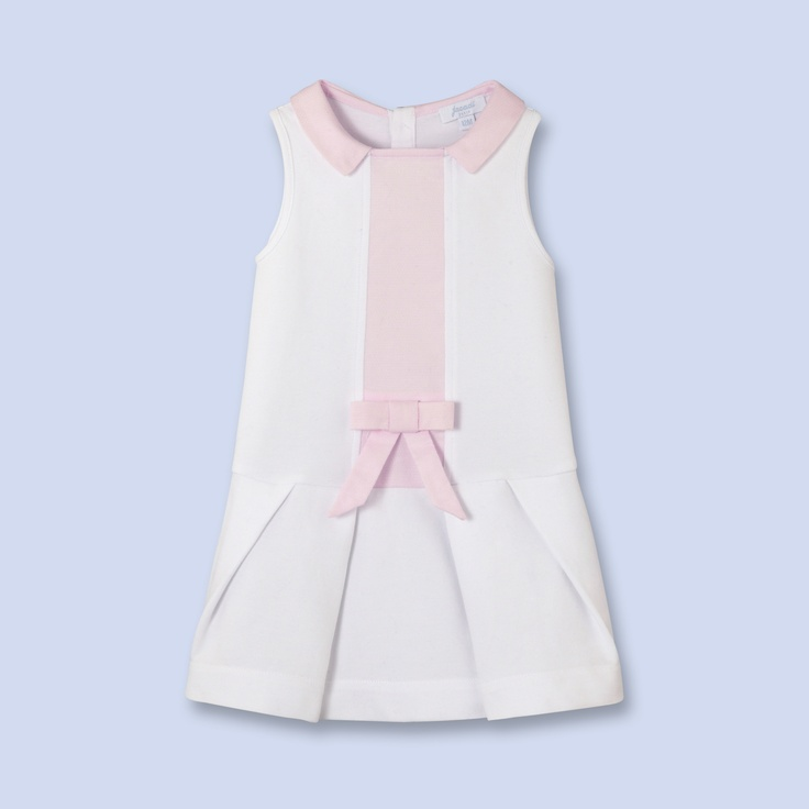 Contrast placket dress for baby, girl @jacadi