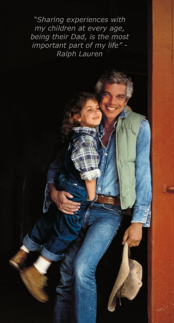 Ralph Lauren with his daughter, Dylan