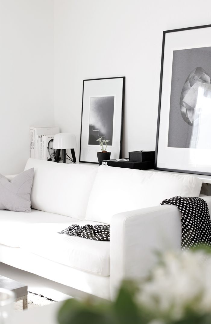 This white living room is chic and stylish.