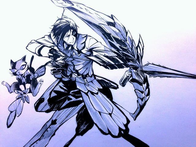 ~Yana Toboso-sensei Monster Hunter/Kuroshitsuji crossover scribble~