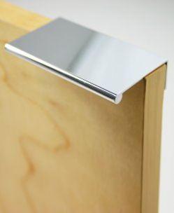 Pull Finger 3'' Long Polished Chrome $6.30  http://www.knobs.co/pulls-handles/pull-finger-3-long-polished-chrome-_WLD-1058-4026.php   #finger #pull #chrome