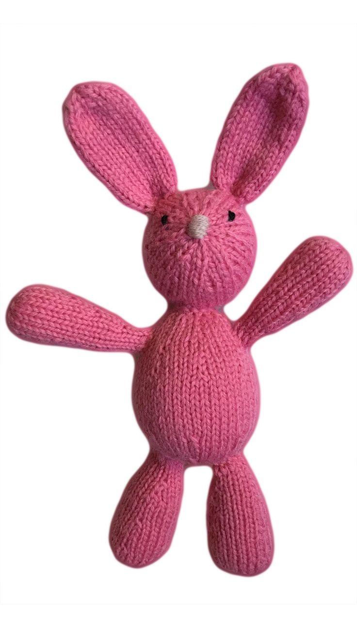 VirkotieNEON Pink 100% Wool Bunny HANDMADE IN AUSTRALIA exclusively for VirkotieBRAND www.virkotie.com