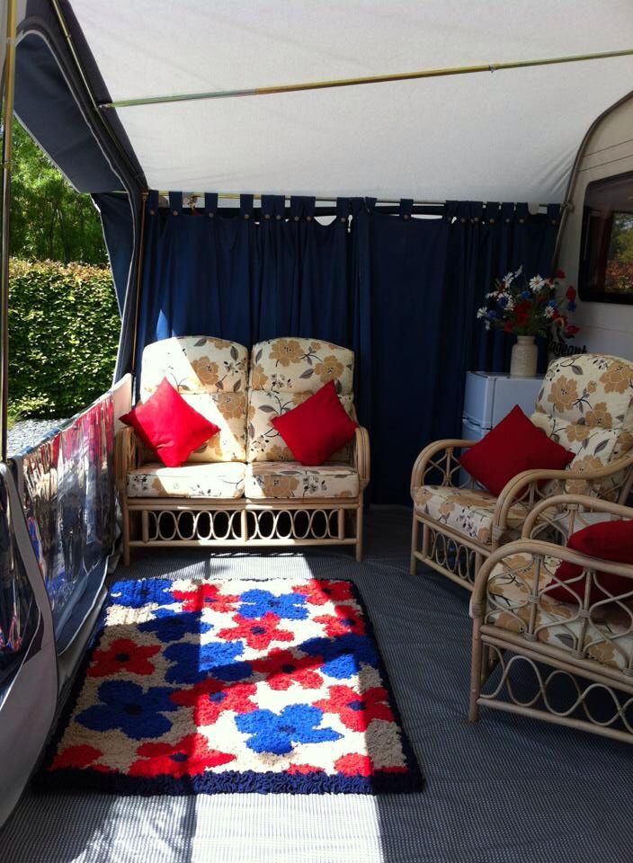 Inside My Caravan Awning It Took Weeks To Make The Rug