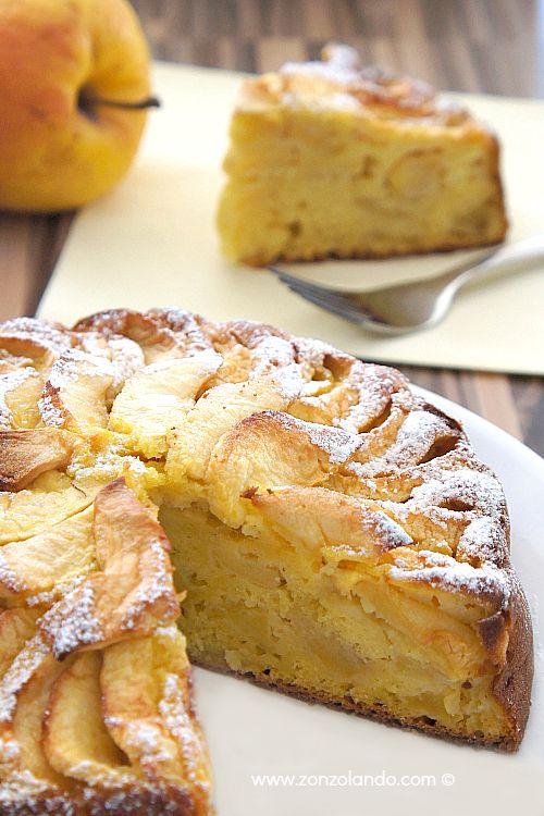 Ricetta torta di mele buonissima senza burro e senza grassi - apple sponge cake recipe light and fat free