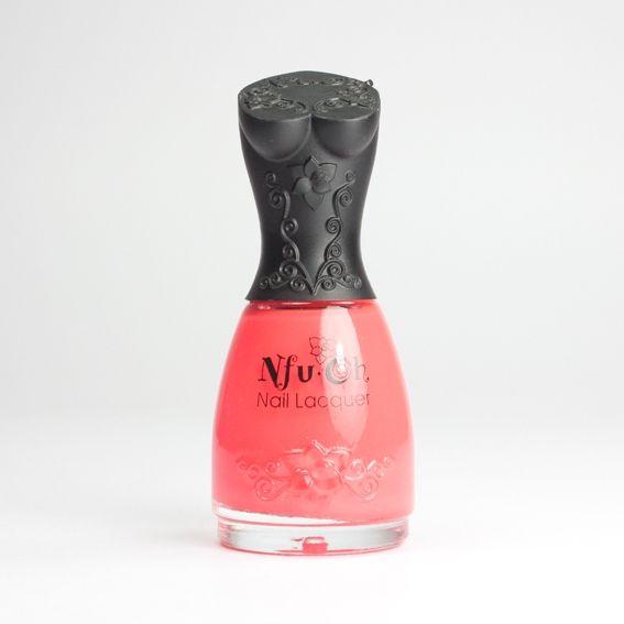 NFU OH Fluorescent FS10, vernis corail néon sur Bec et Ongles €8.50