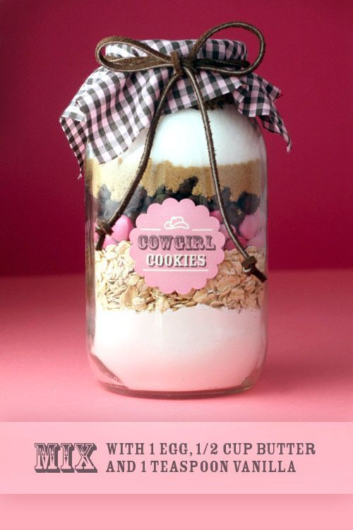 Cowgirl (and Cowboy) Cookies in a jar