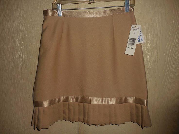 Ladies size 12 Beige Skirt short holiday Beige New With Tags Jeffrey & Dara New #JeffreyDara #ALine